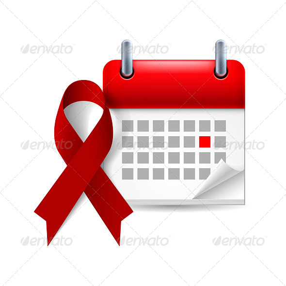 GraphicRiver Burgundy Awareness Ribbon and Calendar 7991129