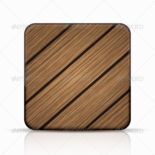 GraphicRiver Modern Wooden Icon 7991169