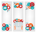 Set of education banners with icons.  - PhotoDune Item for Sale