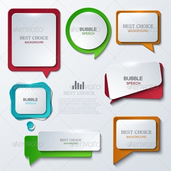 GraphicRiver Modern Speech Bubble Icons Set 7991789