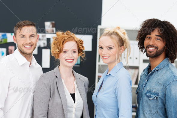 Success young multiethnic business team - Stock Photo - Images