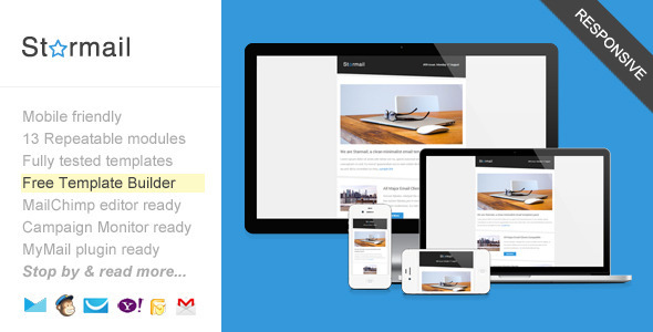 Starmail, Responsive Email with Template Builder - Newsletters Email Templates