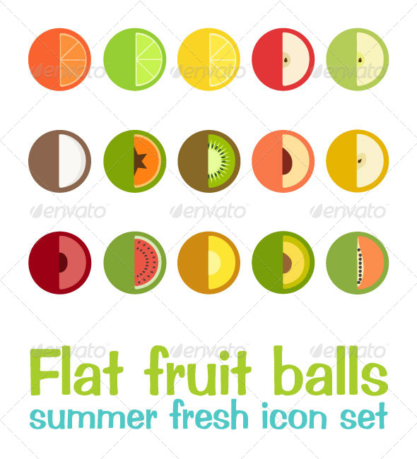 GraphicRiver Flat Fruit Balls 7992000