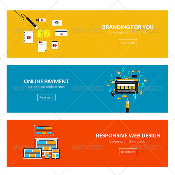 GraphicRiver Flat Designed Banners 7992021