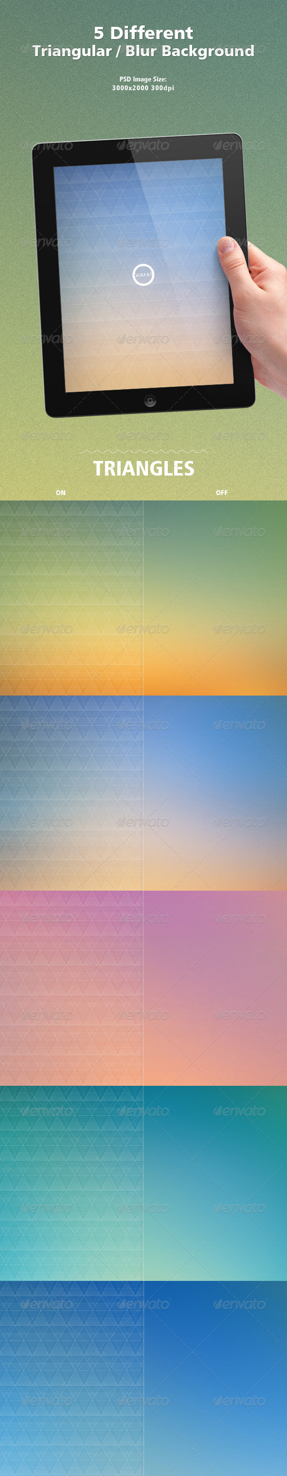 GraphicRiver Triangles Blur Backgrounds 7992121