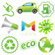 ECO Green Vector Icon Set - GraphicRiver Item for Sale