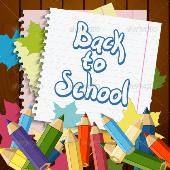 GraphicRiver Back to School Design Element 7992533