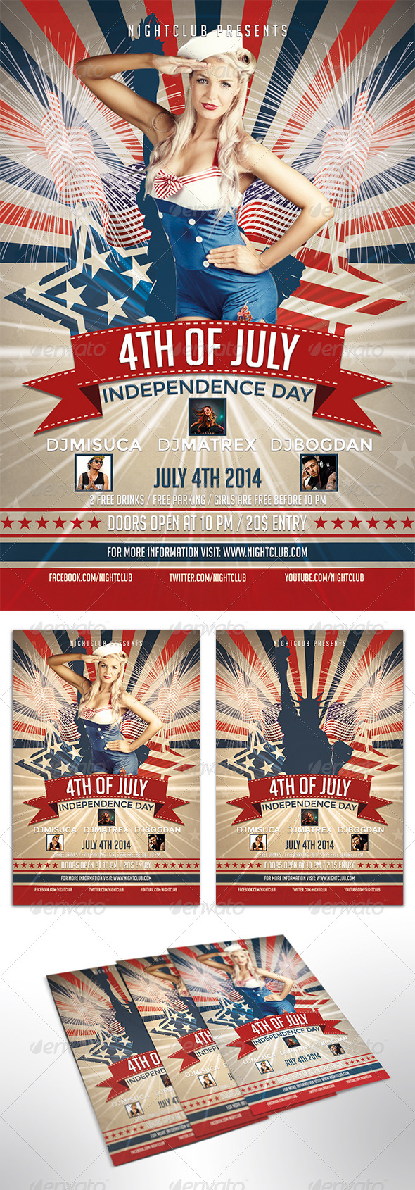 GraphicRiver 4th of July Flyer 7972857
