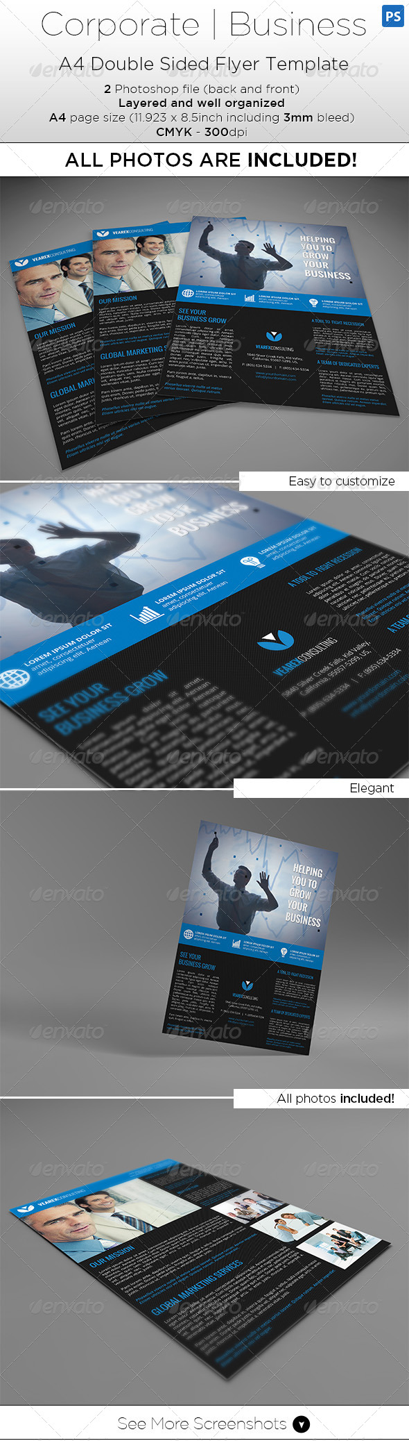 GraphicRiver A4 Double Side Flyer Template All Photos Included 7992590