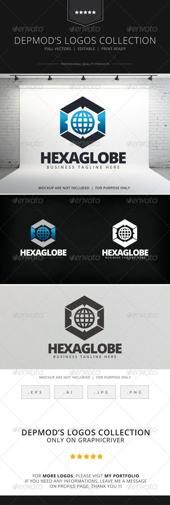 GraphicRiver Hexa Globe Logo 7992591