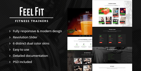 ThemeForest Personal Trainer One Page HTML5 Template 7992614