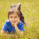 Portrait of a boy in the grass  with retro filter effect - PhotoDune Item for Sale