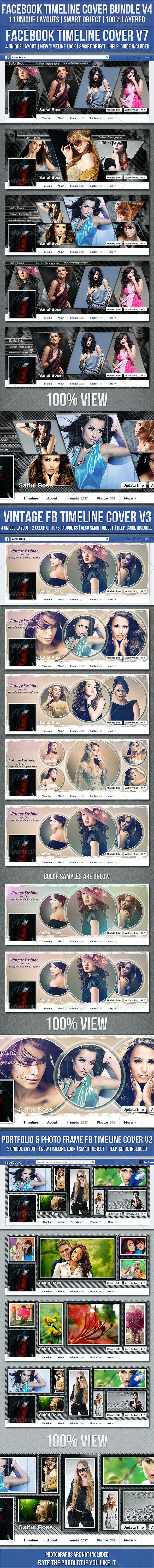 GraphicRiver Facebook Timeline Cover Bundle V4 7992706