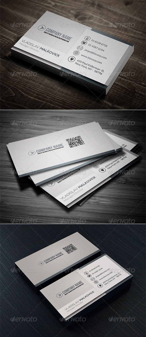 GraphicRiver Clean Business Card Vol 07 7992708