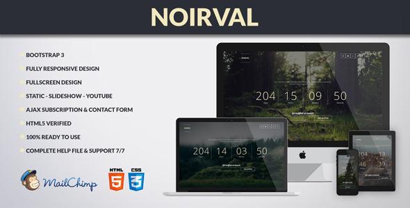 ThemeForest NOIRVAL Elegant Coming Soon Fullscreen 7965093