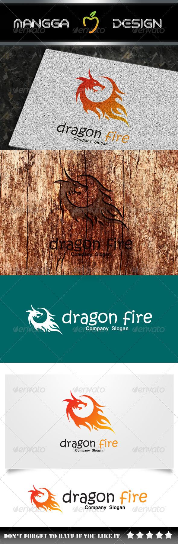 GraphicRiver Dragon Fire Logo 7992913