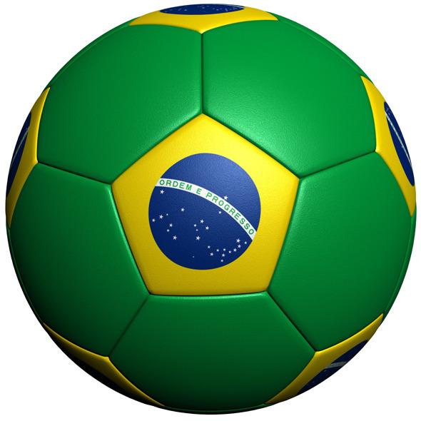 Brazil Soccer Ball Flag - 3DOcean Item for Sale