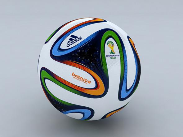 3DOcean Brazuca Soccer Ball 3D Model 7993181