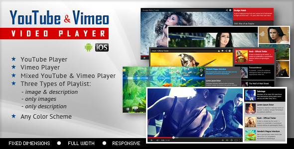 CodeCanyon YouTube And Vimeo Video Player With Playlist 7964882