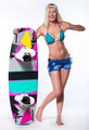 Beautiful girl with wakeboard - PhotoDune Item for Sale