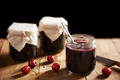 Homemade cherry jam in jars - PhotoDune Item for Sale