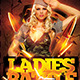 Ladies Battle Flyer Template PSD