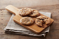 Chocolate chip cookies on wooden table - PhotoDune Item for Sale