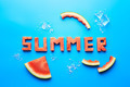 Summer word written with watermelon - PhotoDune Item for Sale