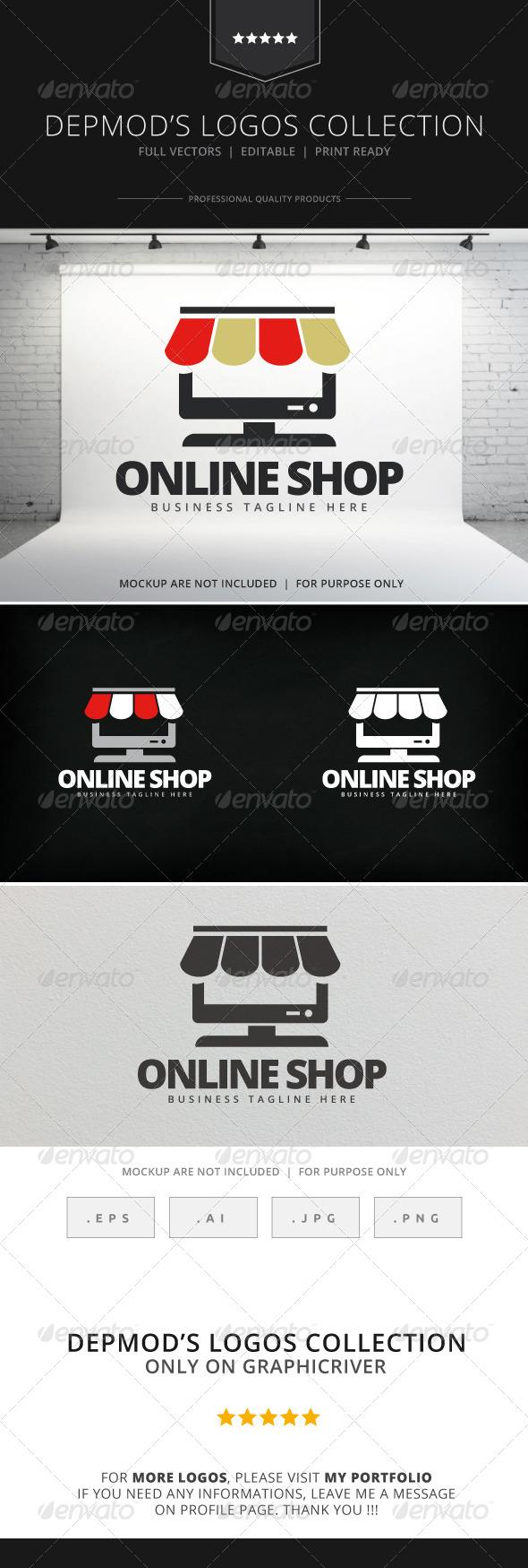 GraphicRiver Online Shop Logo 7993378