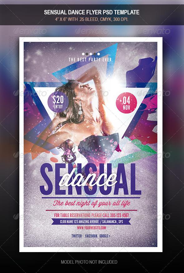GraphicRiver Sensual Dance Flyer 7993475
