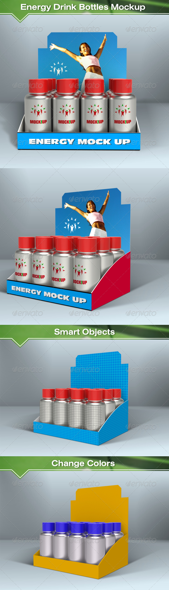 GraphicRiver Energy Drink Bottles Mockup 7993531