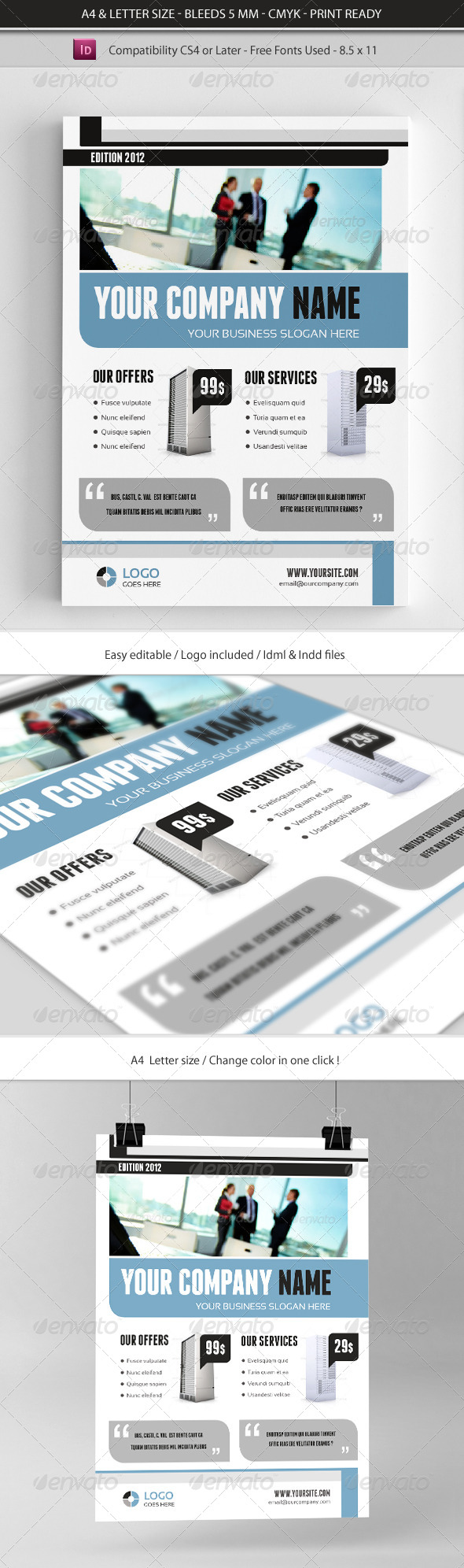 GraphicRiver Creative Corporate & Business Commerce Flyer 7993787