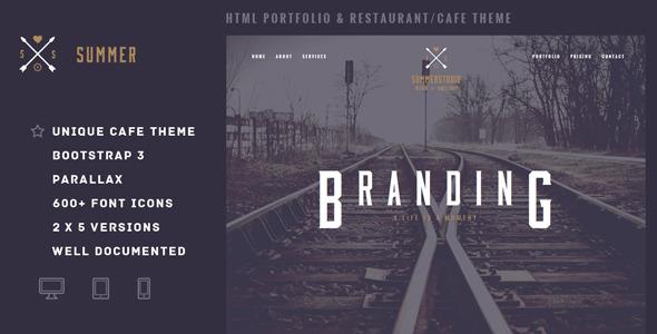 Summer - Portfolio & Restaurant/Cafe Template