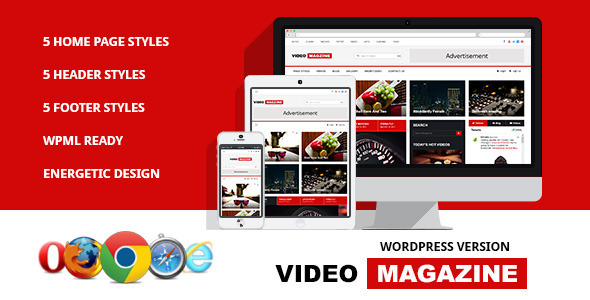 Video Magazine - Wordpress Magazine Theme - News / Editorial Blog / Magazine