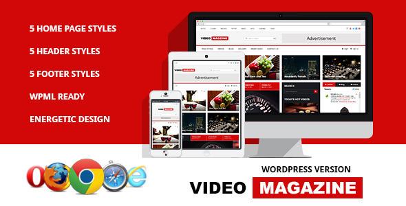 Video Magazine - WordPress Magazine Theme - News / Editorial Blog / Magazine