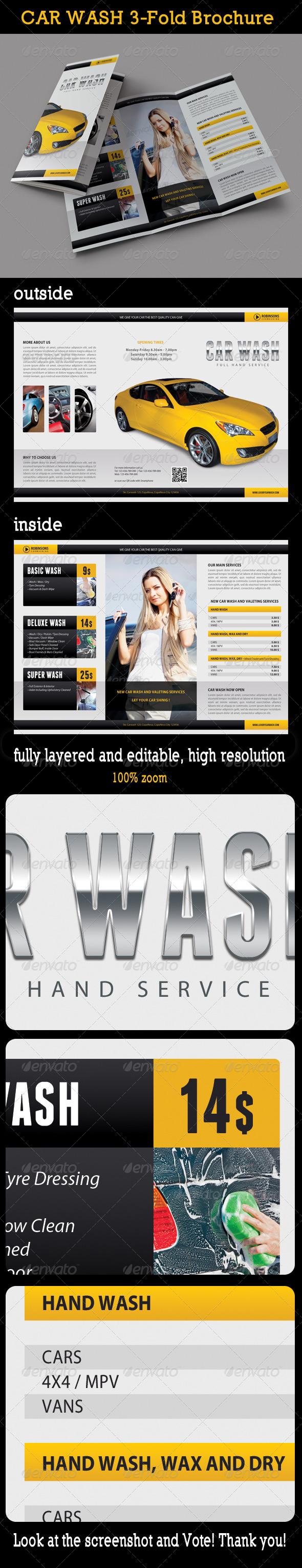 GraphicRiver Car Wash 3-Fold Brochure 7993926