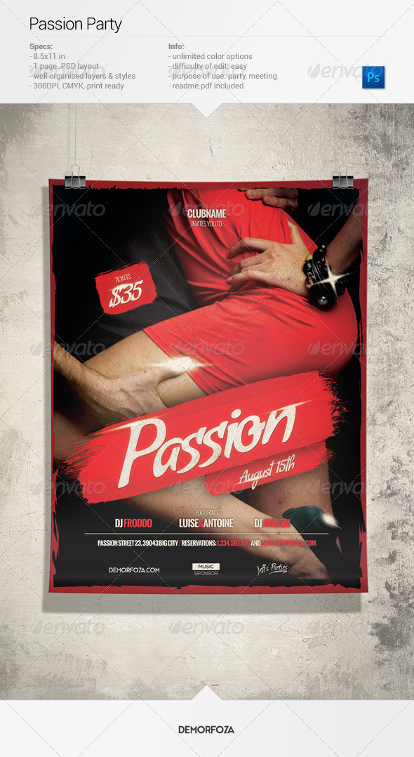 GraphicRiver Passion Party Flyer 7973897