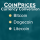 CoinPrices -Bitcoin, Dogecoin, Litecoin conversion - CodeCanyon Item for Sale