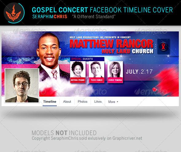 GraphicRiver Gospel Concert Facebook Timeline Cover Template 7994512