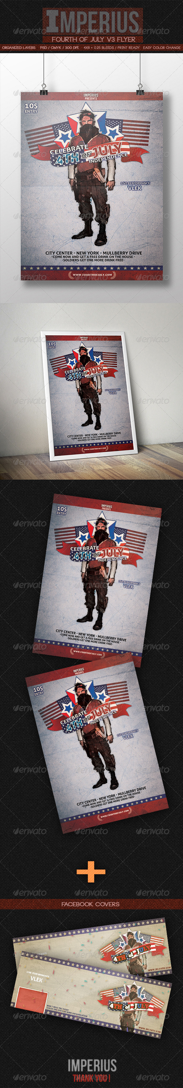 GraphicRiver Fourth of July V3 7994597