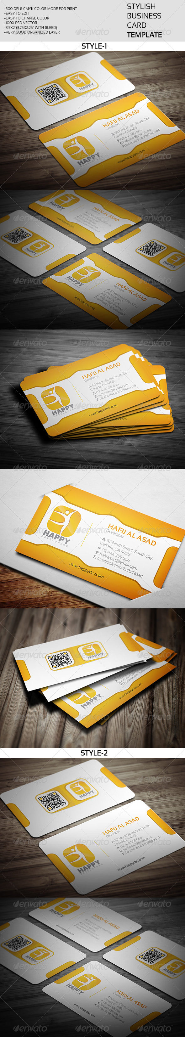 GraphicRiver Stylish Business Card Template 7974272