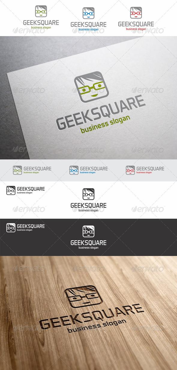 GraphicRiver Geek Square Avatar Logo 7994757