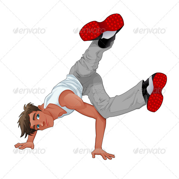 GraphicRiver Funny Breakdancer 7994828