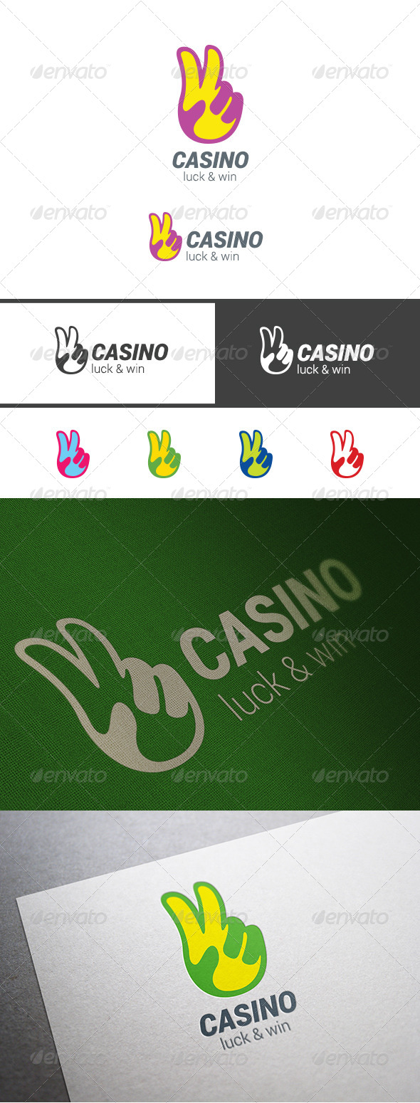 GraphicRiver Casino Winner Hand Symbol Logo 7992073