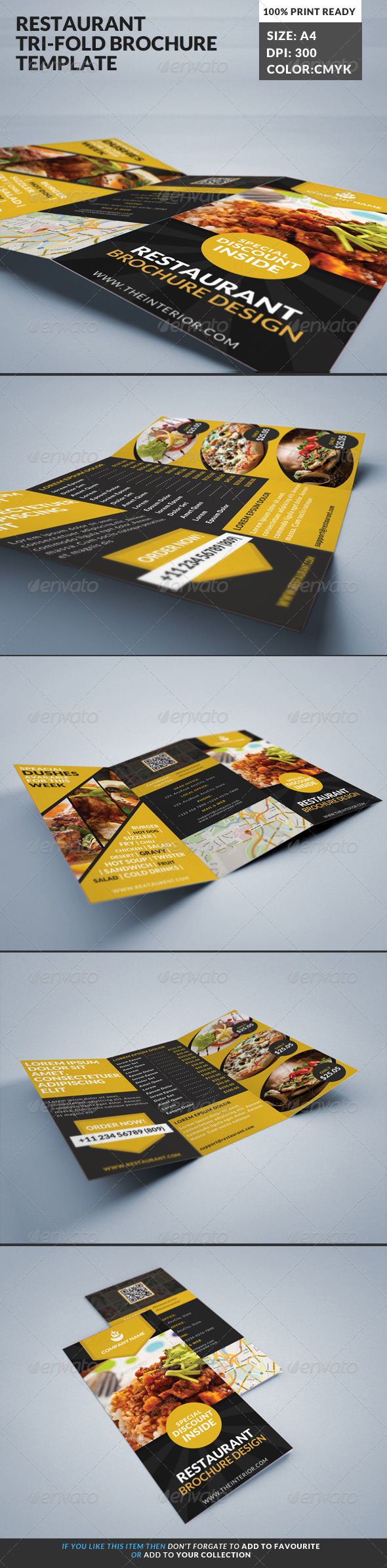 GraphicRiver Restaurant Food Cooking Tri-Fold Brochure 1 7994853