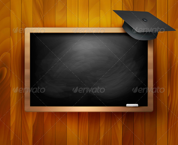GraphicRiver Blackboard with Graduation Cap 7994954