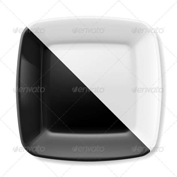 GraphicRiver Black and White Plate 7994961