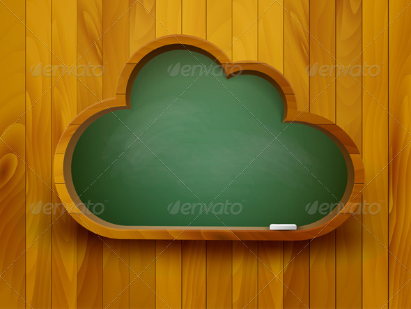 GraphicRiver Cloud Chalkboard 7994964