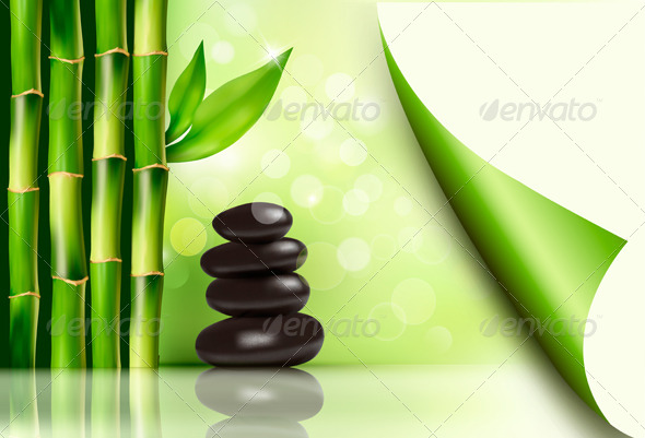 GraphicRiver Spa Background with Bamboo and Stones 7994975