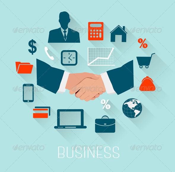 Flat Design Business Concept